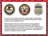ICE Domain name seizure page