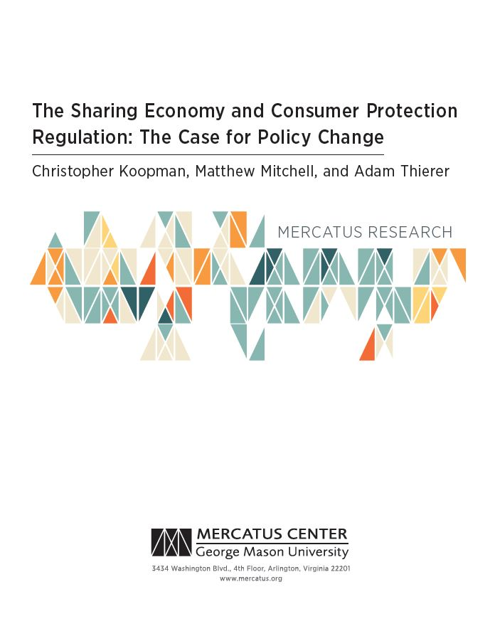 Sharing Economy paper from Mercatus