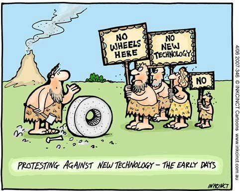 CARTOON - Protesting Against New Technology - the Early Days